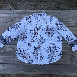 The Limited Women Top Long Sleeve Blouse Floral